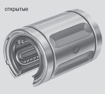 Стандартные шариковые втулки, R0630 открытого типа, без уплотнительного кольца
